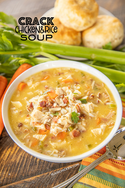 Crack Chicken & Rice Soup