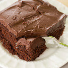 Chocolate Cake with Whipped Mocha Ganache Frosting