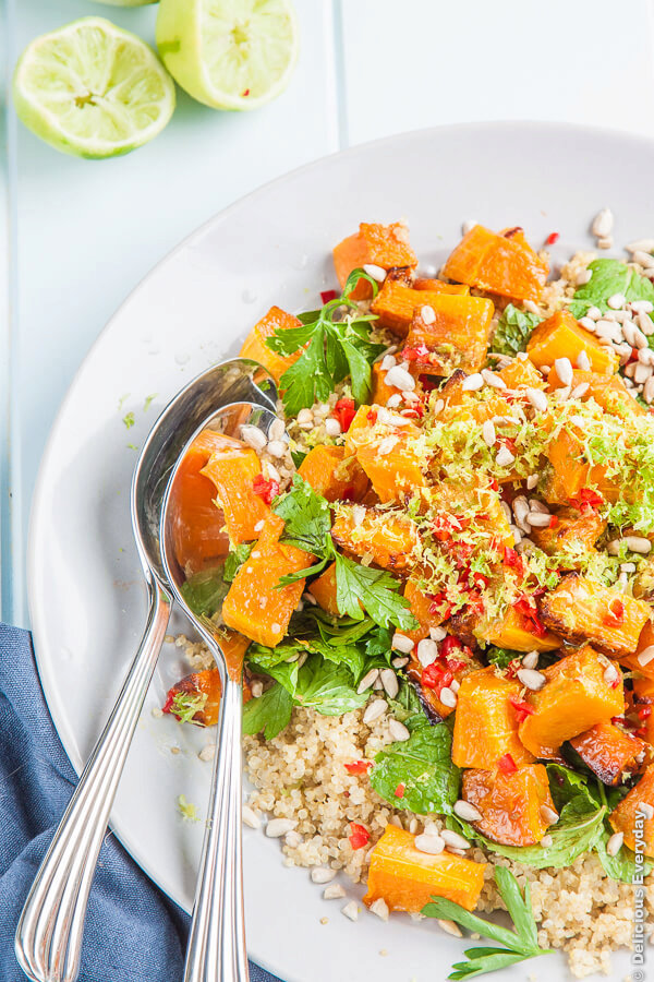 Lime, Chili and Roasted Pumpkin Quinoa Salad