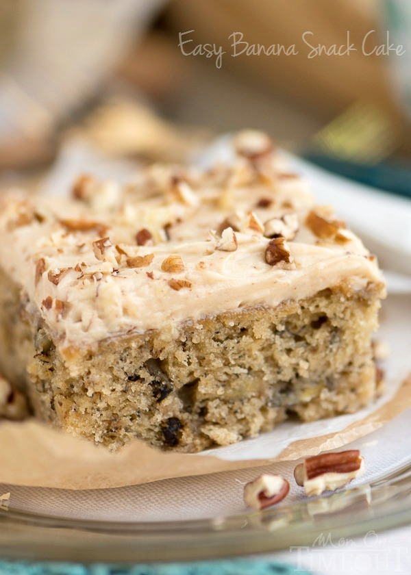 Easy Banana Snack Cake with Brown Butter Maple Cream Cheese Frosting