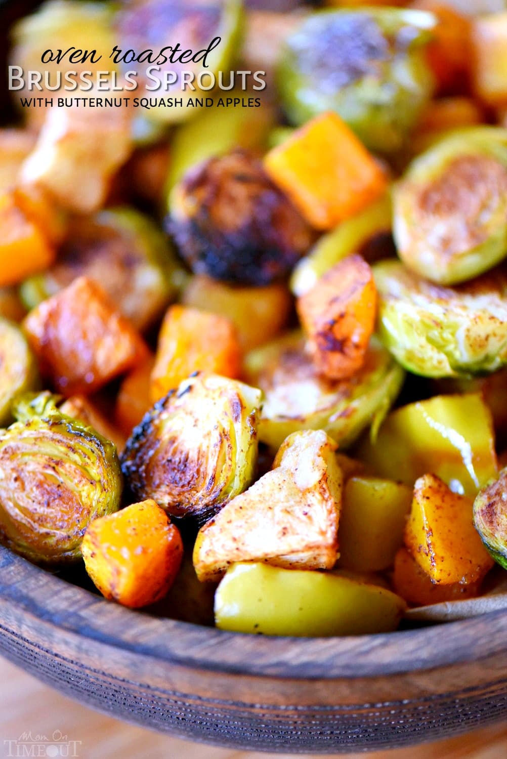 Oven Roasted Brussels Sprouts with Butternut Squash and Apples