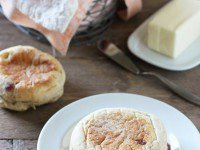 Homemade Cranberry Walnut English Muffins