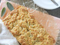 Apple Cheddar Beer Bread with Sage Butter