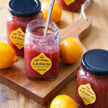 Tart Cherry & Meyer Lemon Marmalade
