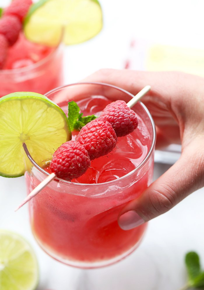 Raspberry Ginger Mojitos