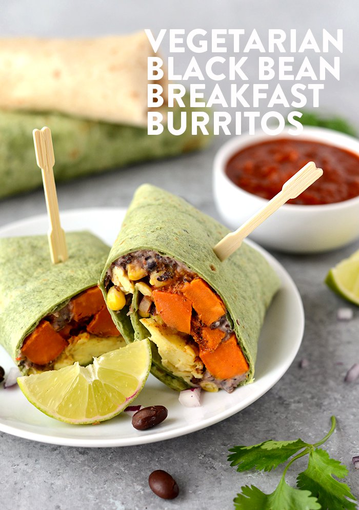 Meal Prep Black Bean Breakfast Burritos