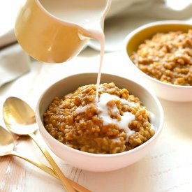 Healthy Pumpkin Pie Rice Pudding