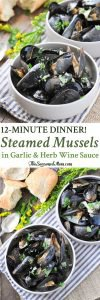 Steamed Mussels in Garlic and Herb Wine Sauce