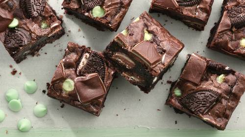 Triple-Mint Andes™-Oreo™ Brownies
