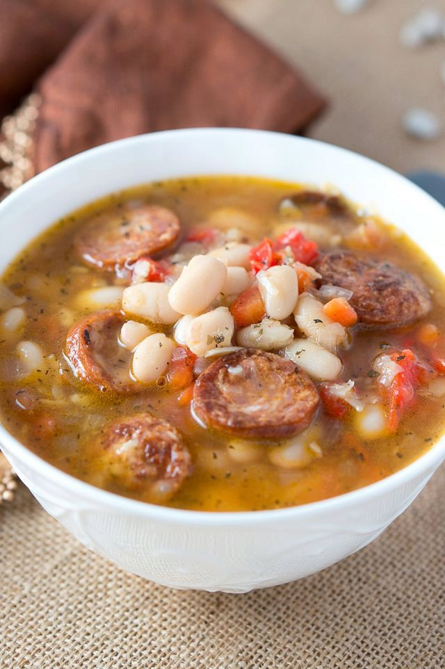 Hearty White Bean Soup with Sausage