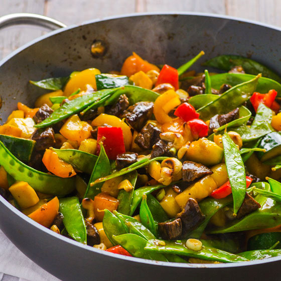 Healthy Beef Stir Fry with Cashews