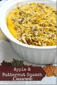 Apple and Butternut Squash Casserole