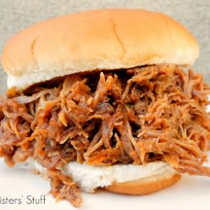 Instant Pot Smoky BBQ Pulled Pork Sliders